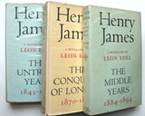 Henry James : The Untried Years ; The Conquest of London ; The Middle Years