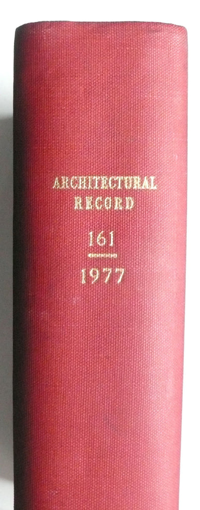 Architectural Record magazine January to June 1977