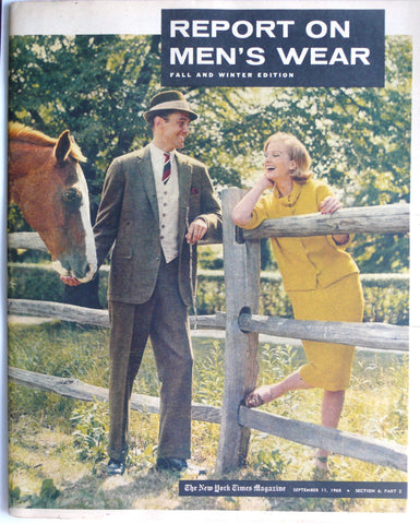 Report on Men's Wear Fall and Winter edition 1960
