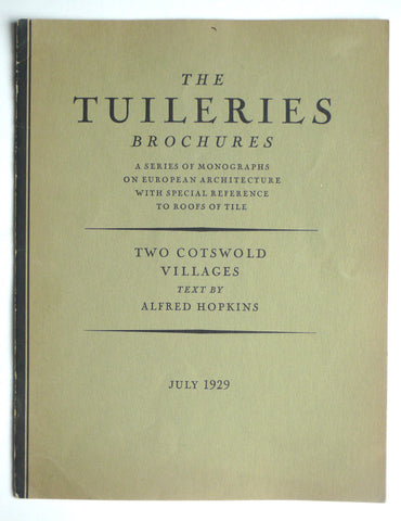 The Tuileries Brochures : Two Cotswold Villages