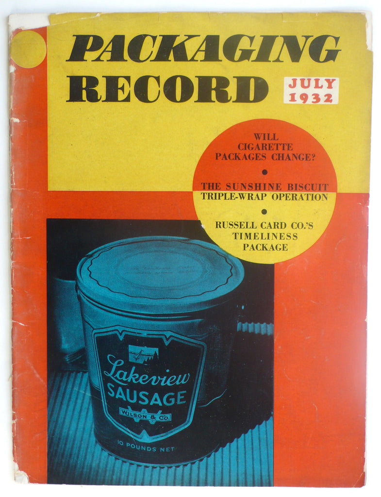 Packaging Record July 1932