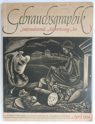 Gebrauchsgraphik International Advertising Art April 1938