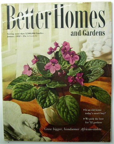 Better Homes and Gardens  January 1952