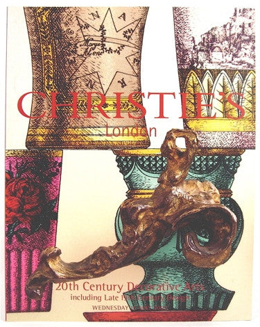 Christie's London  20th Century Decorative Arts including late 19th Century Design  Wednesday 15 May 2002.