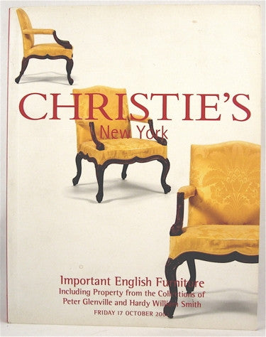 Christie's New York  Important English Furniture  Including Property from the Collections of Peter Glenville and Hardy William Smith
