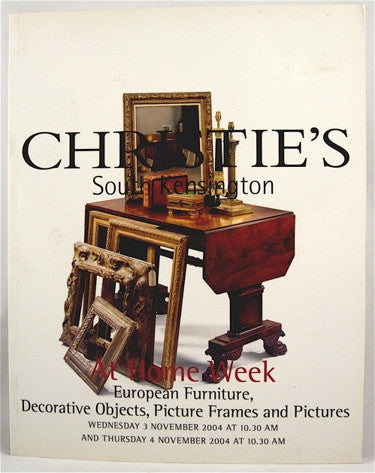 Christie's South Kensington At Home Week  European Furniture, Decorative Objects, Picture Frames and Pictures
