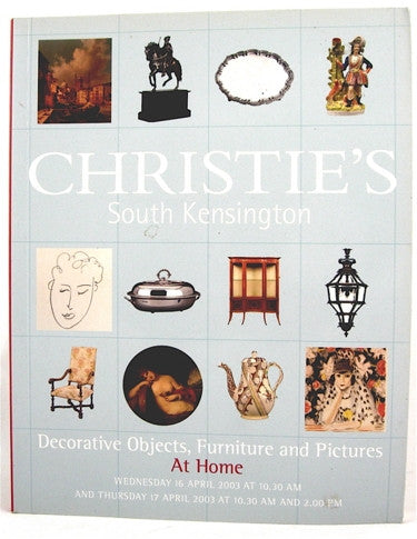 Christie's  South Kensington  Decorative Objects, Furniture & Pictures  At Home  16 April 2003