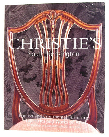 Christie's  South Kensington  English and Continental Furniture, Tapestries and Works of Art.  19 February 2003.