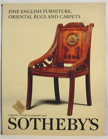 Fine English Furniture, Oriental Rugs and Carpets  London  16 & 24 January 2001