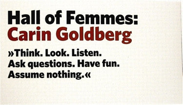Hall of Femmes: Carin Goldberg