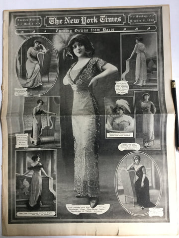 New York Times Fashion Section 1910