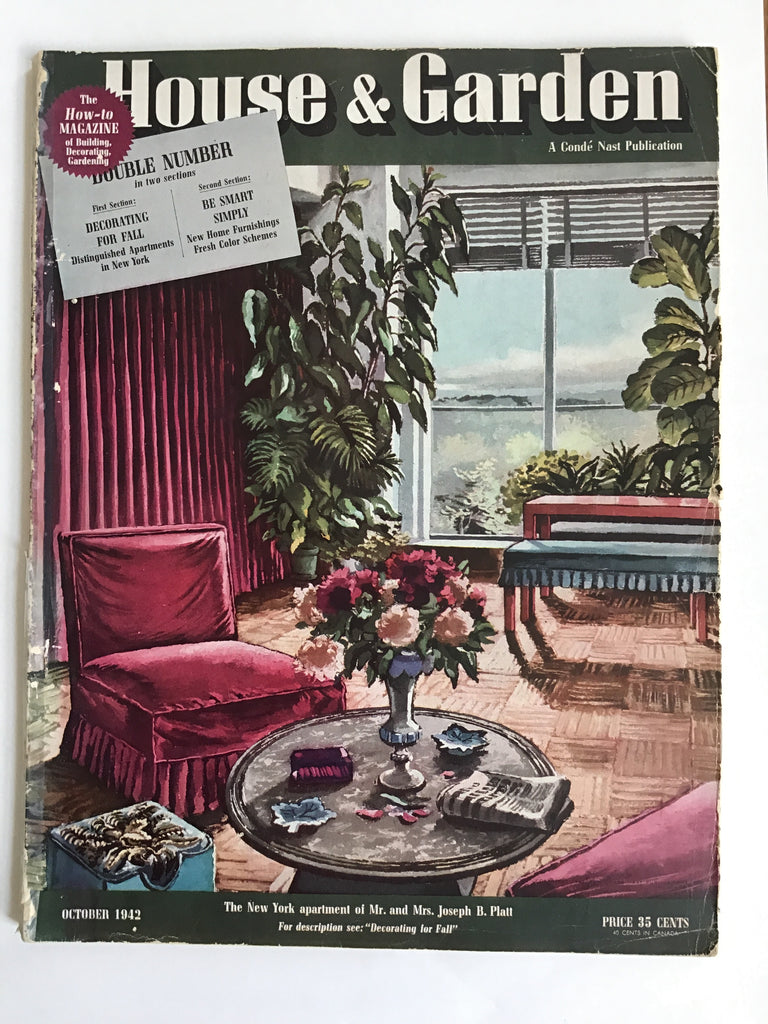 House and Garden October 1942 T. H. Robsjohn-Gibbings