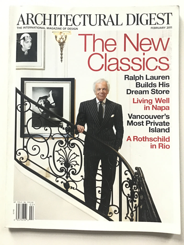 Architectural Digest February 2011 ralph lauren