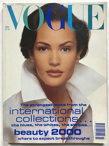 British Vogue March 1992 david bailey