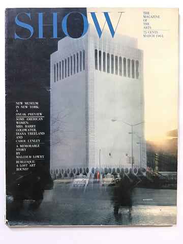 Show magazine March 1964 Huntington Hartford museum