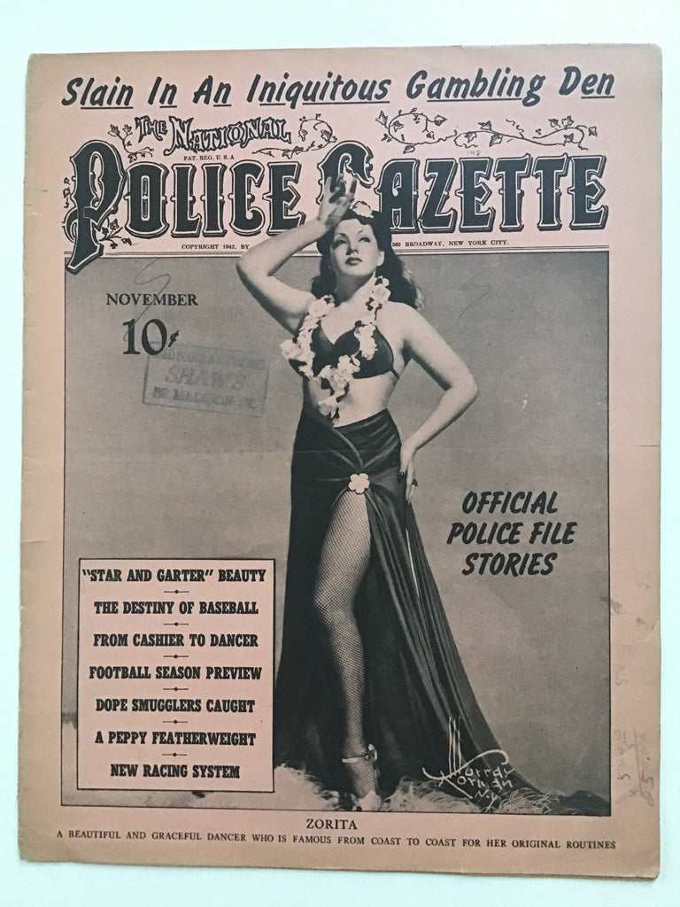The National Police Gazette November 1942 Louise's Monte Carlo