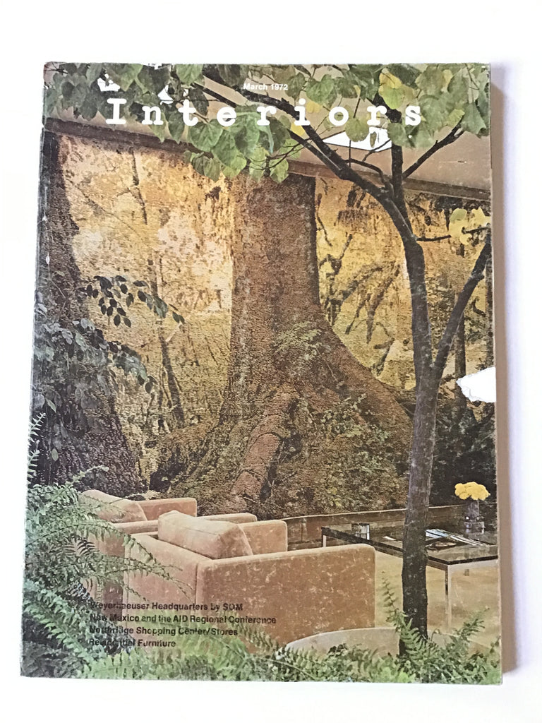 Interiors magazine March 1972 som