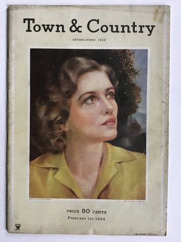 Town and Country February 1st, 1934 Jerome Zerbe