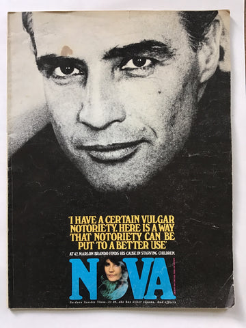 Nova magazine January 1968 Marlon Brando Christina Stead