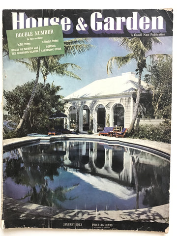 House and Garden January 1942 Homes of Florida and the Caribbean Islands