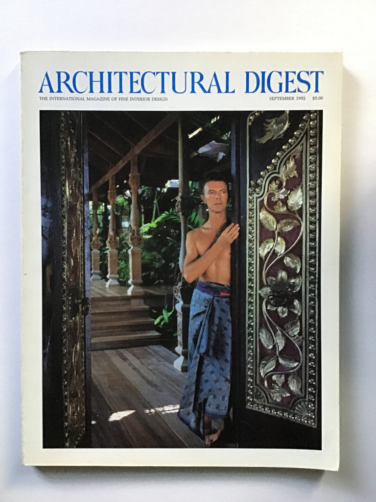 David Bowie in Mustique architectural digest