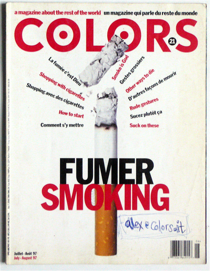 Colors magazine 21  August 97