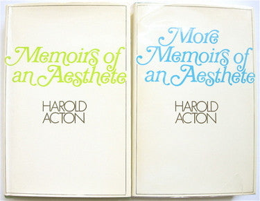 Memoirs of an Aesthete  --and--  More Memoirs of an Aesthete