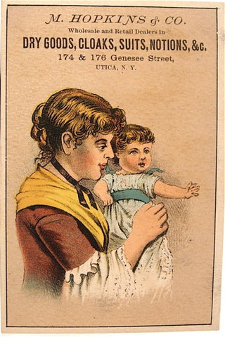 Old trade card: M. Hopkins & Co