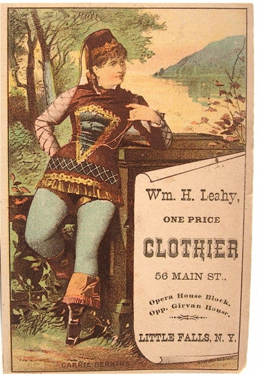 Old trade card- Leahy Clothier