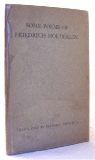 Some Poems of Friedrich Holderlin