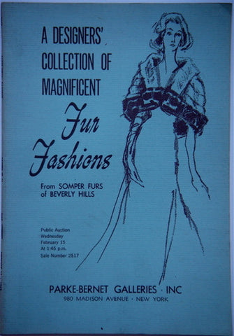 Somper Furs of Beverly Hills  (two auction catalogues)
