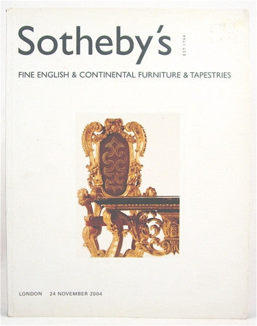 Sotheby's  Fine English & Continental Furniture and Tapestries London  24 Novembre 2004.
