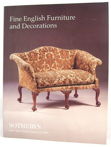 Sotheby's  Fine English Furniture and Decorations  New York Friday January, 1999