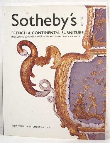 Sotheby's French & Continental Furniture  New York September 30, 2004