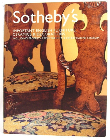 Sotheby's  Important English Furniture, Ceramics and Decorations Including Property from the Estate of Katharine Graham