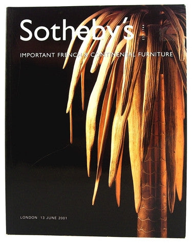 Sotheby's  Important French and Continental Furniture   London 13 June 2001
