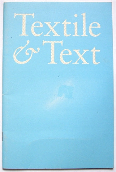 Textile & Text volume 13 number 1