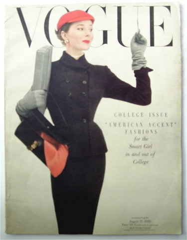 Vogue magazine August 15, 1950 Irving Penn cover