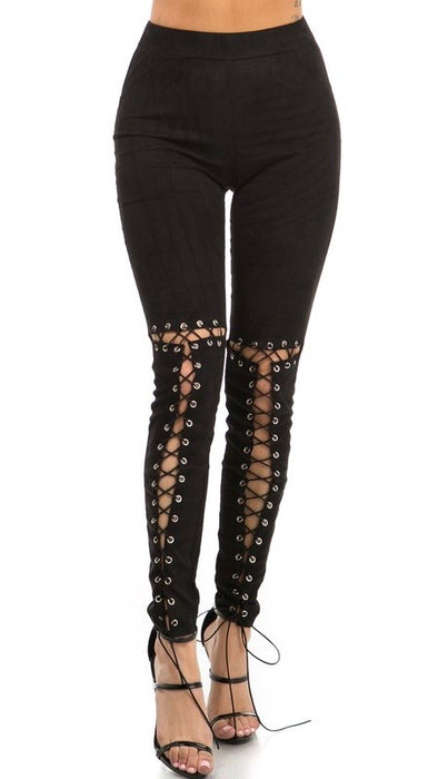 Laced Up Leggings