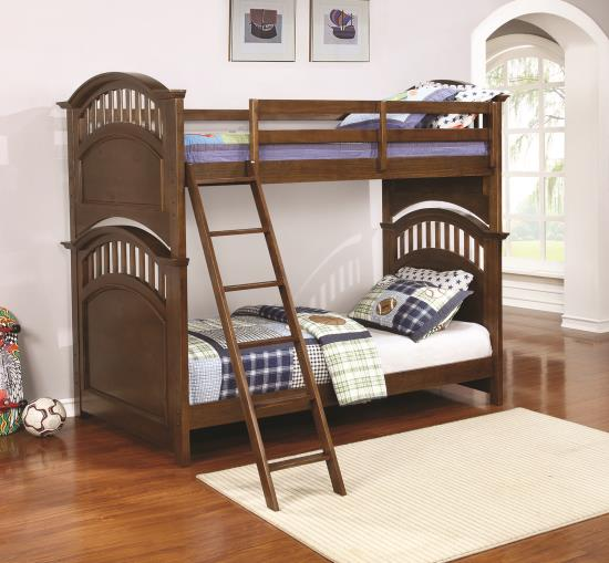 Halsted Bunk bed Twin/twin or Twin/Full complete with Mattresses