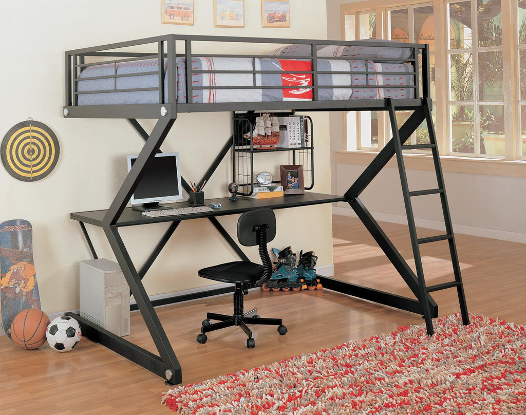 Workstation Twin Loft Bed With Mattress