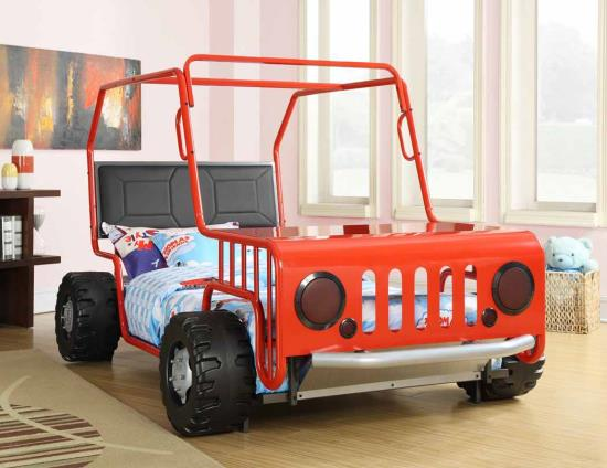 twin jeep bed includes mattress