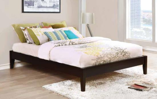 Cappuccino Platform Bed available Twin-King