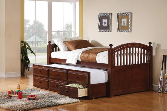 Chestnut Captains bed with mattresses