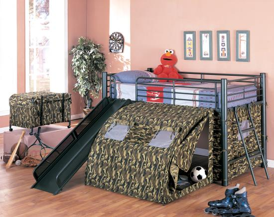 Camo Loft Bed twin size with mattress