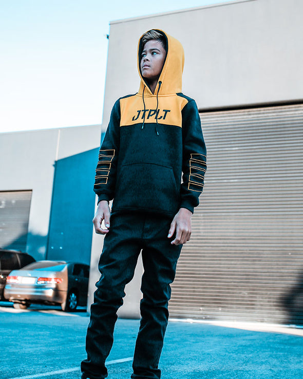 JETPILOT RX YOUTH HOODIE BLACK/YELLOW