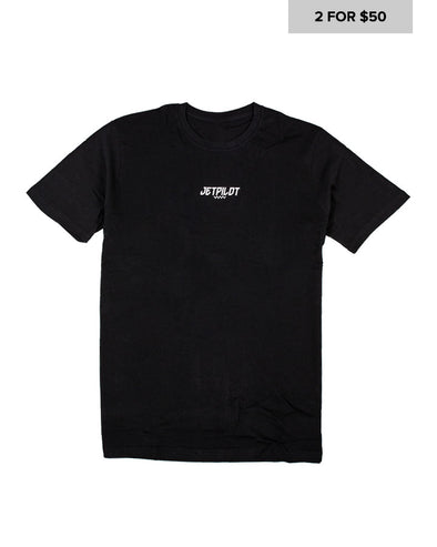 JETPILOT MENS CANNED TEE BLACK