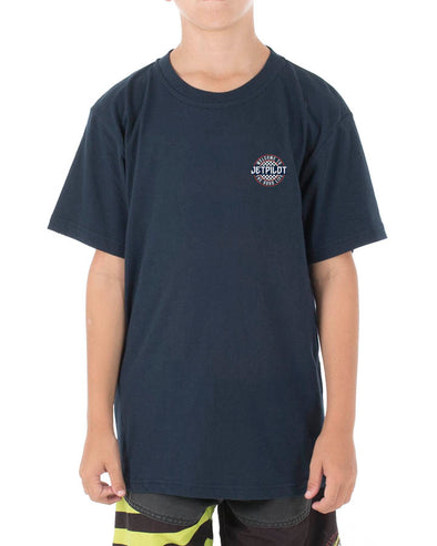 JETPILOT SHOWTIME YOUTH TEE NAVY