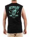 JETPILOT RIDE FAST MENS MUSCLE BLACK