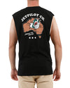 JETPILOT TINNIES MENS MUSCLE BLACK